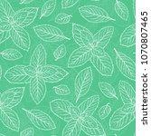 mint leaf vector seamless... | Shutterstock .eps vector #1070807465