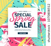 template design web banner for... | Shutterstock .eps vector #1070808512
