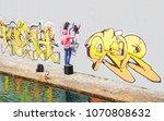 Street Graffiti Artist Painting ...
