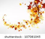 Branch With Maple Leaves With...