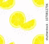 seamless pattern with lemon ...   Shutterstock . vector #1070812706