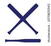 baseball crossed bats. criss... | Shutterstock .eps vector #1070820542