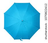 Deep sky blue umbrella isolated ...
