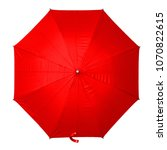 Red Umbrella Isolated On White...