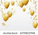 celebration background with... | Shutterstock . vector #1070822948