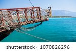 the bow of the ship with a...   Shutterstock . vector #1070826296