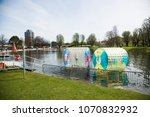 waterball in the olympic lake | Shutterstock . vector #1070832932