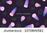 3d gradient dynamic shapes with ... | Shutterstock .eps vector #1070840582