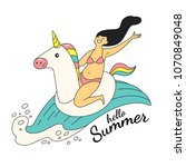hello summer. vector... | Shutterstock .eps vector #1070849048