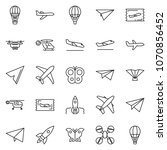 thin line icon set   fly ticket ... | Shutterstock .eps vector #1070856452