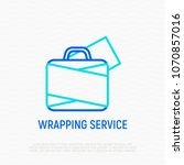 wrapping service for luggage... | Shutterstock .eps vector #1070857016