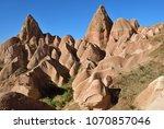 cappadocia landscape in red... | Shutterstock . vector #1070857046