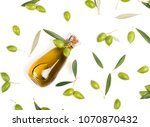 top view of olive oil in a... | Shutterstock . vector #1070870432