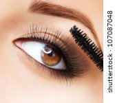 Makeup. Make Up. Applying...