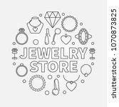 jewelry store vector concept...   Shutterstock .eps vector #1070873825