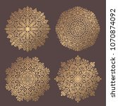 mandala vector design element.... | Shutterstock .eps vector #1070874092