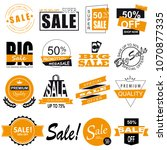 set of sale icons  banners ... | Shutterstock .eps vector #1070877335
