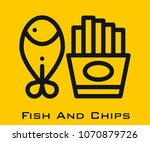 fish and chips vector icon | Shutterstock .eps vector #1070879726