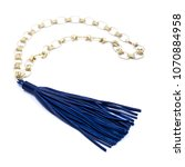 long tassel necklace | Shutterstock . vector #1070884958