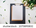 sheet for records and notes   Shutterstock . vector #1070890832