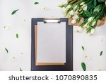 sheet for records and notes | Shutterstock . vector #1070890835