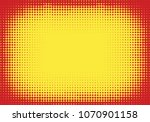 pop art styled halftone... | Shutterstock .eps vector #1070901158