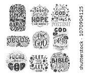 vector set of religions...   Shutterstock .eps vector #1070904125