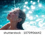 maldives or miami beach water.... | Shutterstock . vector #1070906642