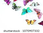 arts and crafts painted... | Shutterstock . vector #1070907332