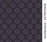 bitcoin seamless pattern. coins ... | Shutterstock .eps vector #1070915636