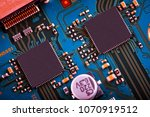 electronic circuit board close... | Shutterstock . vector #1070919512