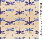 seamless pattern with... | Shutterstock . vector #1070920358