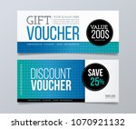 gift voucher template design... | Shutterstock .eps vector #1070921132
