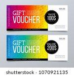 gift voucher template design... | Shutterstock .eps vector #1070921135