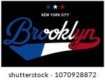 college apparel print.vector... | Shutterstock .eps vector #1070928872