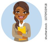 young beautiful african... | Shutterstock .eps vector #1070933918