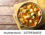 bobo chicken with vegetables in ... | Shutterstock . vector #1070936855