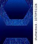 abstract hexagon circuit board... | Shutterstock .eps vector #1070951126
