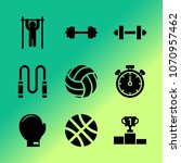 vector icon set about fitness... | Shutterstock .eps vector #1070957462