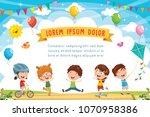 vector illustration of kids... | Shutterstock .eps vector #1070958386