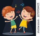 vector illustration of kids... | Shutterstock .eps vector #1070958425