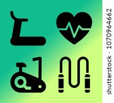 vector icon set about fitness... | Shutterstock .eps vector #1070964662