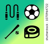vector icon set about fitness... | Shutterstock .eps vector #1070964722