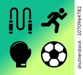 vector icon set about fitness... | Shutterstock .eps vector #1070964782