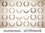 collection circular vintage... | Shutterstock .eps vector #1070966648
