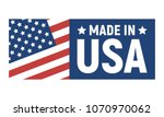 made in usa label. american... | Shutterstock .eps vector #1070970062