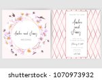 save the date card  wedding... | Shutterstock .eps vector #1070973932