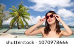 travel  tourism and valentines... | Shutterstock . vector #1070978666