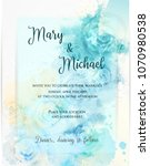 invitation wedding template ... | Shutterstock .eps vector #1070980538