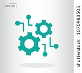 function settings vector icon | Shutterstock .eps vector #1070983505
